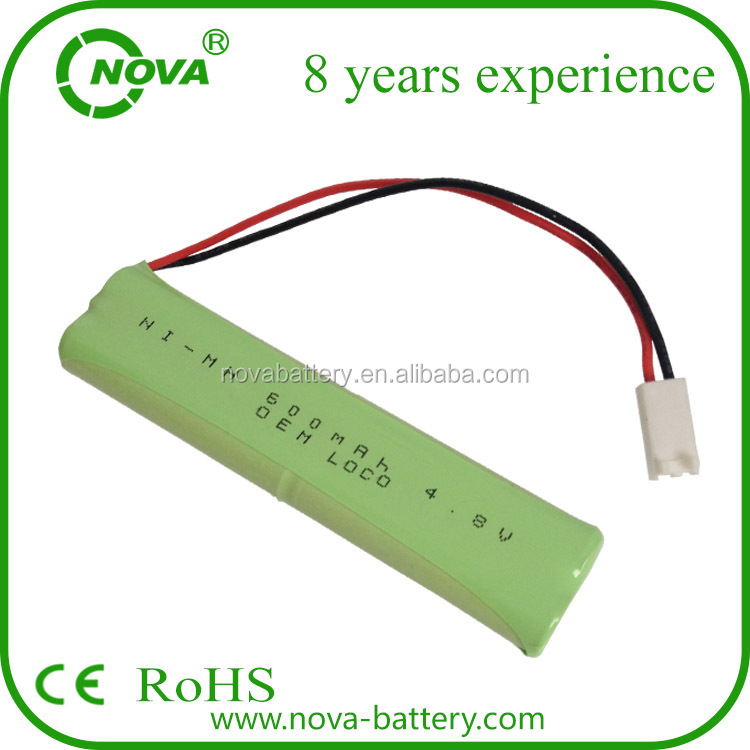 1.2v 3.6v 4.8v 7.2v 600mah ni-mh aaa battery pack