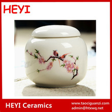 White with hand painted Ceramic Cremation Urns Funeral Supplies
