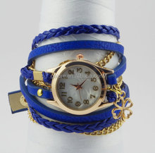 gold handmade blue ladies fancy wrist watches