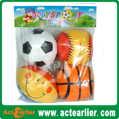 stuffed soft foam soccer ball