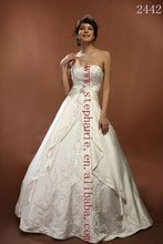 (2442) Guangzhou Stephanie 2012 New Designer Hot Sale Discount Embroidery Wedding Dresses
