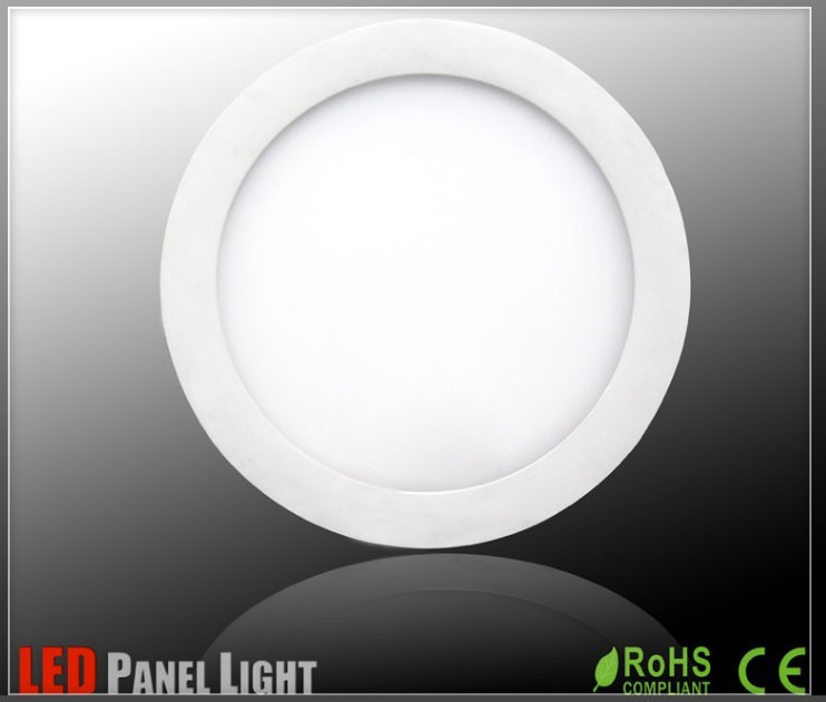 surface mounted led panel light Round Square 12W smd2835 60leds High quality High brightness Ceiling flat Lighting
