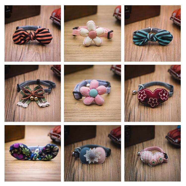 Top Fashion Cute Mini Pets Cats Dogs Tie Collars Wholesale