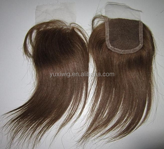 2016 Top remy brazilian hair closure,natural brown top closure