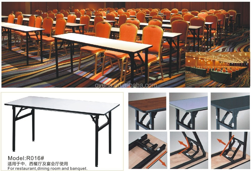 Modern Folding Round Banquet Hotel PVC Table