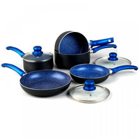 8Pcs Aluminium Marble Coating Cookware Sets