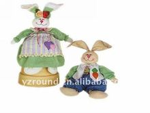 Plush boy/girl dressed country rabbits