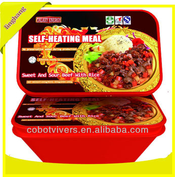 Self heating rice meal