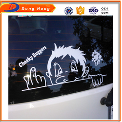 Best price cast coated sticker paper, funny car velcro sticker