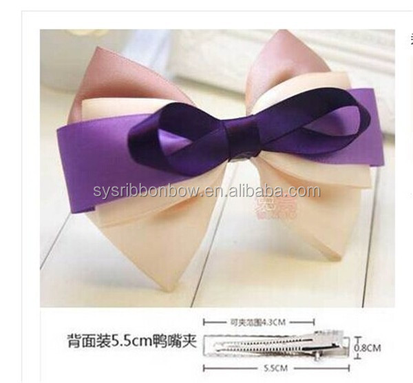 satin ribbon big hair bows