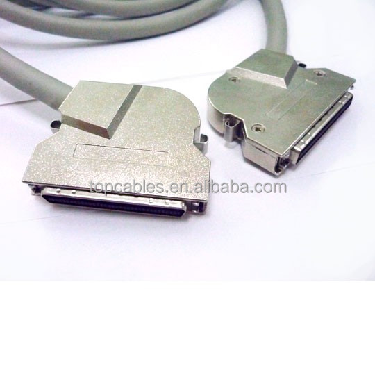 Original manufacturer MDR 68 pin cable with metal shell