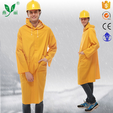 Air vents in the back and armpit 0.25-0.5MM raincoat with button raincoat sewing pattern pattern raincoat hooded