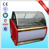 CE approved ice cream display freezer / freezer for ice cream used / countertop ice cream freezer