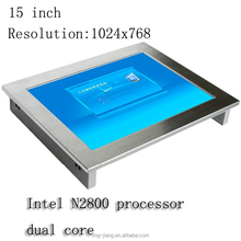 Fanless 15 inch touch screen industrial panel PC all in one computer support wireless 3G&Wifi