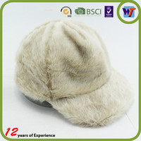 New spring fashion fur white baseball cap soft men and women baseball hat