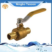 Red Handle BRASS Ball Valve PEX