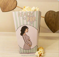 Printable Baby Shower Favor Box Template Ready to Pop Striped Popcorn Box - DIY Party Favor Container New Baby Boy or Girl