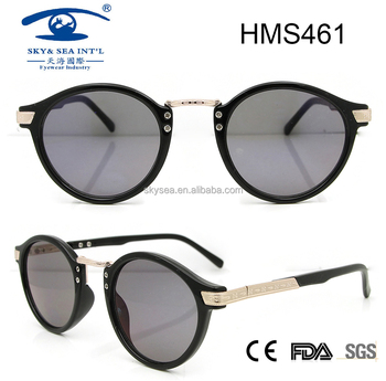 fashionable round sunglasses , custom plastic sunglasses , italian design eyeglasses