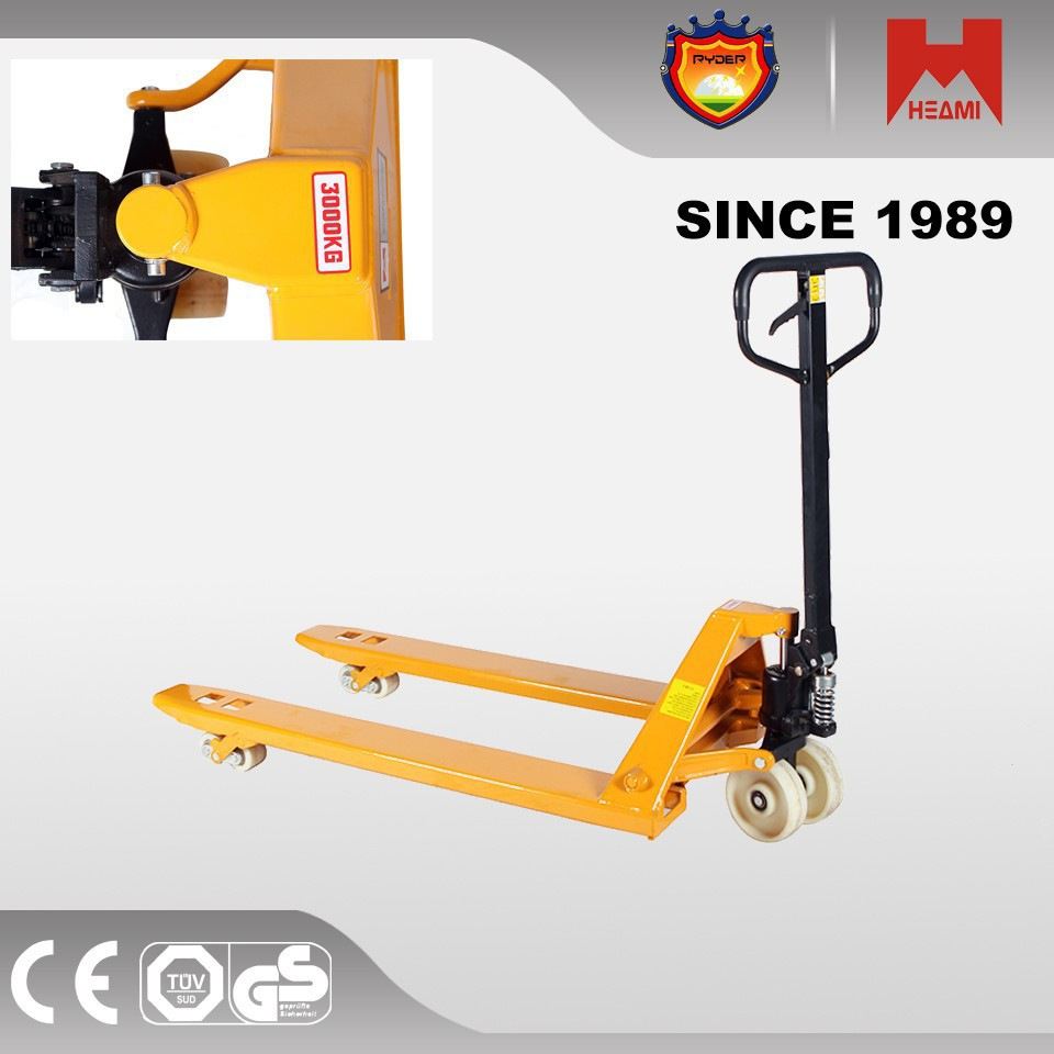 powered pallet jack with 2500kgs 3000kgs scale hand pallet truck