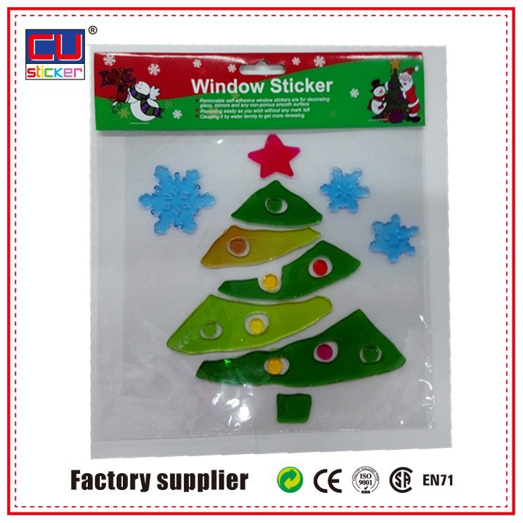 decor glass christmas jelly removable window sticker wholesale