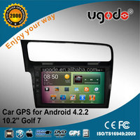 "For 10.2"" dual core android 4.2.2 GOLF 7 car radio android tablet"