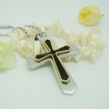 Quality Product Two Color Laser Logo Cross Pendants