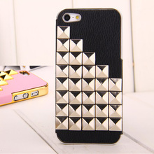 Cheap luxury rivet 3D computer protective case cover for iPhone 5