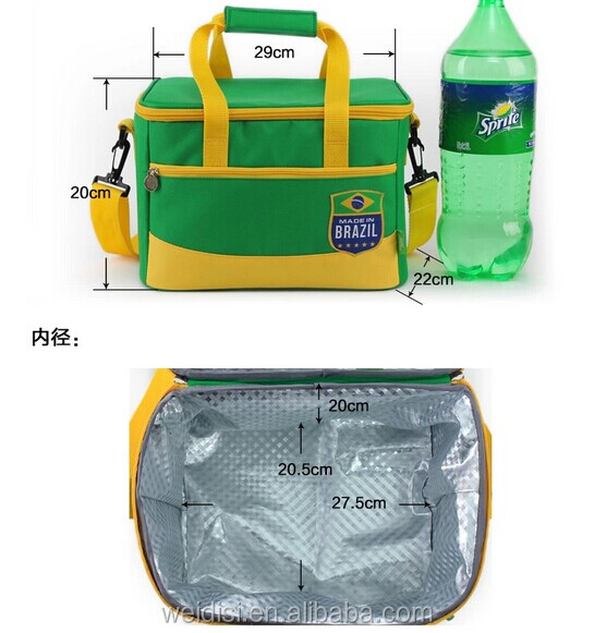 2014 new arrival World cup football outdoor food and fruit preservation waterproof cooler bag