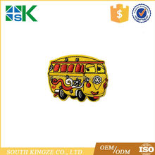 Small Iron On Embroidered Applique Patch Childrens Yellow School Buses Sew on Patch