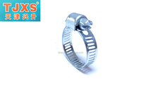 Stainless steel American type hose clamp with welding for exhaust systems