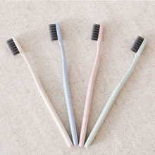 wholesale Toothbrush Single tube Pure Natural Wheat Straw toothbrush