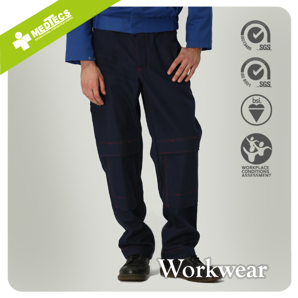 Blue Heavy industry Workwear uniform Trousers Protective Pants