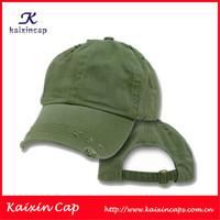 cheap custom plain distressed baseball cap wholesale adjustable baseball cap