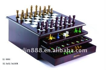 Wood game Chess game set 12in 1 combination chess game