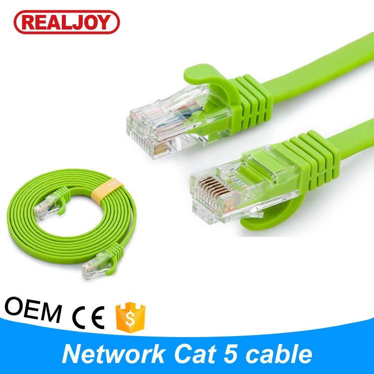 1m Stocking 0.39 UTP STP FTP SFTP High Speed green Network Lan Ethernet flat cat 5 5e Cable accept sample order