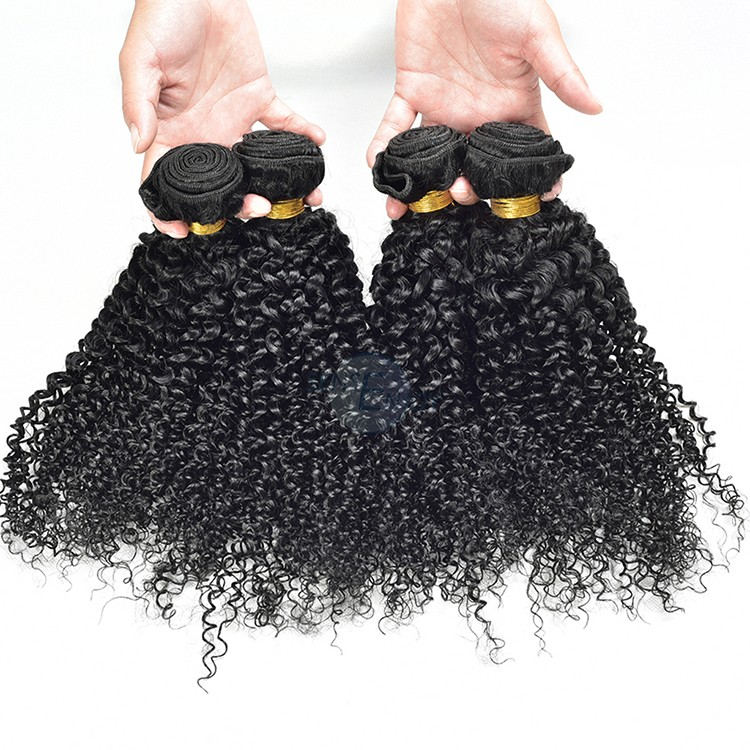 Wholesale dropping Indian Unprocessed Raw Virgin Kinky Curly Hair Natural hr5015