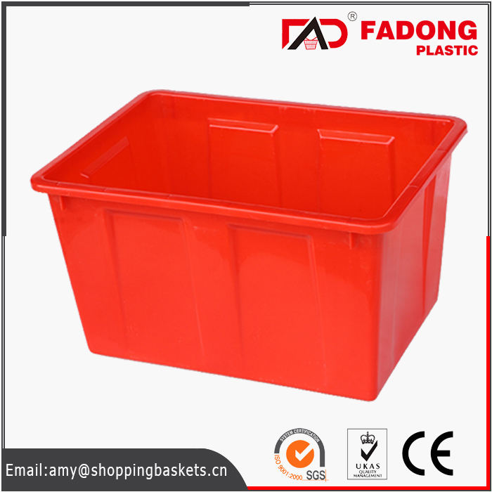 Plastic folding moving crate for fresh products