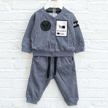 Newest best quality fashionable 2017 boutique boys set clothing