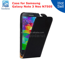 High Quality Leather Case Flip Cover for Samsung Galaxy Note 3 Neo N7505