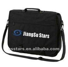 Black student shoulder messenger bag with polyester