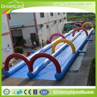 Popular 0.6mm thickness PVC tarpaulin inflatable zorb ball race track, inflatable racing track for zorb ball playing