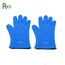 FDA approval silicone 5 fingers tips cooking gloves