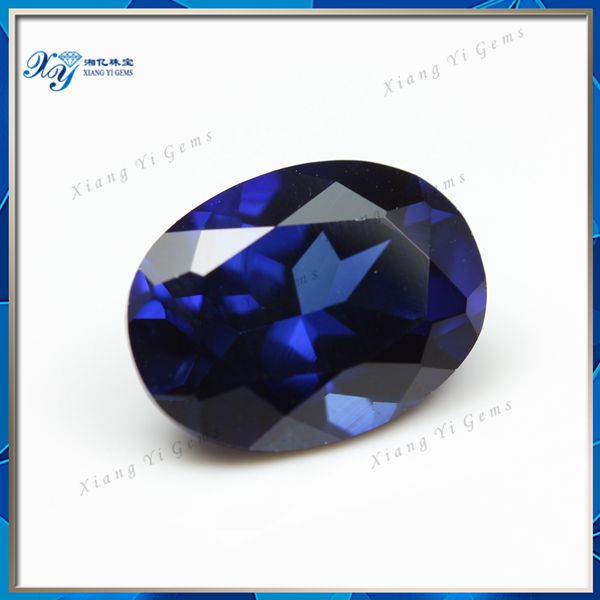 Hot Selling Different Quality Uncut sapphire gemstone Diamond,Fabulous Brilliant Oval Cut 7*9MM Synthetic Blue Sapphire Price