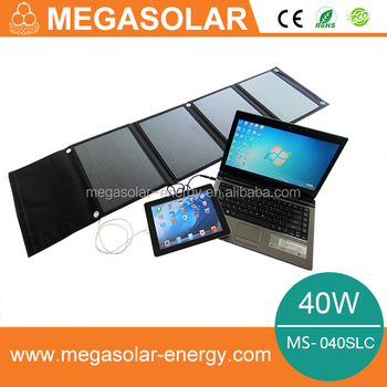 40w portable solar laptop charger universal for phone and laptop