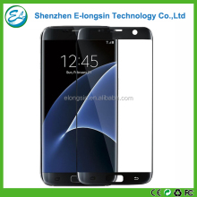 3D carbon fiber full cover tempered glass screen protector for Samsung Galaxy S7 edge
