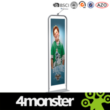 "36""EZ Tube Banner Stand with Single Sided Custom Prnting Dye Sublimation Graphic"