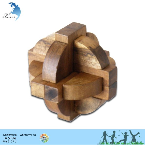 2014 New Educational Toys 3D Jigsaw Wooden Adult iq Puzzle Brain Teaser Games