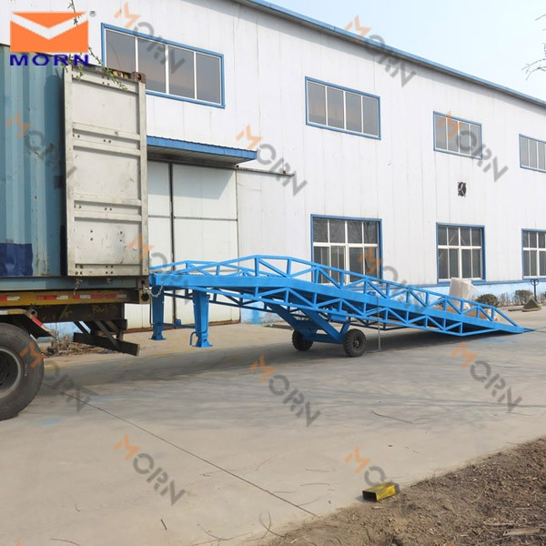 15 ton mobile hydraulic loading dock ramp slope for forklift
