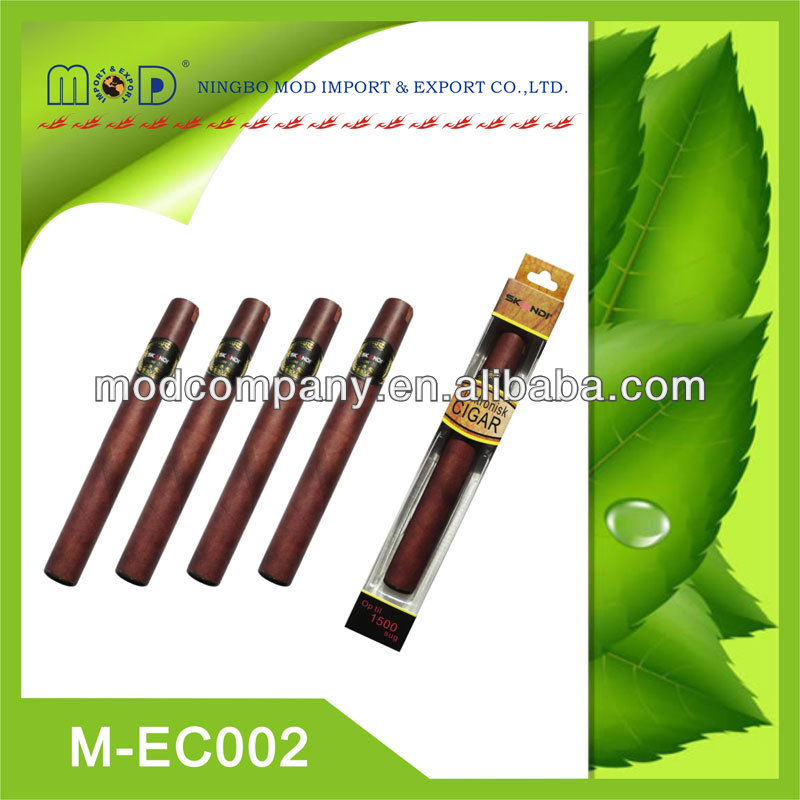 1800puffs disposable e-cigar-CE, FCC, Rohs e cigar price in China