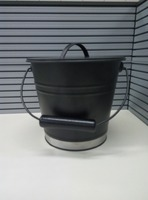 Top-quality black iron coal bucket with lid